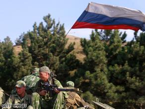 The city of Gori, Georgia is still under Russian control.