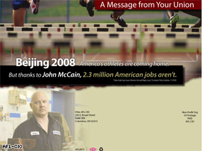 The AFL-CIO is sending this mailer to 50,000 voters