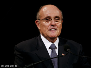 Giuliani will keynote the Republican convention next month.