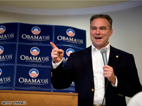 Gov. Kaine campaigned for Sen. Obama in Leesburg, Virginia last week.