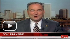 Virginia Gov. Tim Kaine, a leading contender in the Barack Obama veepstakes, talks with CNN's John Roberts.