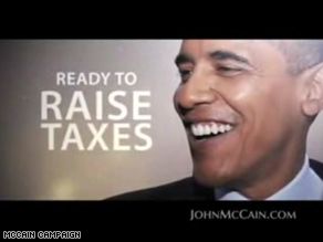 New McCain ad again hits Obama on taxes.