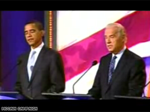 A new GOP ad shows Biden criticizing Obama.