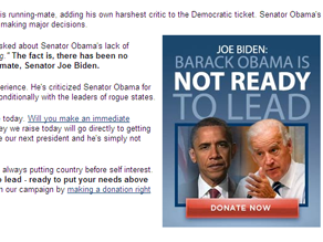 Rick Davis slammed the Biden pick in an email to supporters.