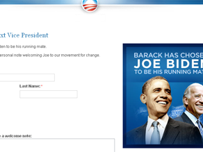 Joe Biden's Web site now redirects to Barack Obama's.