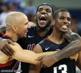 U.S. men 'back on top' in Olympic basketball