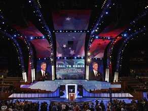 Howard Dean, chairman of the Democratic National Committee, opens the Democratic National Convention in Denver today.