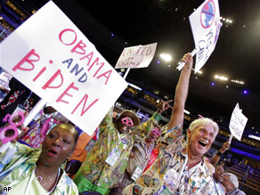 The Democratic National Convention comes to life on it's opening day in Denver, Co.
