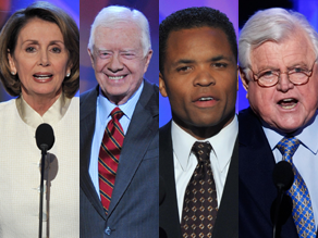 The Democratic speakers tonight are more liberal than mainstream America, Castellanos says.