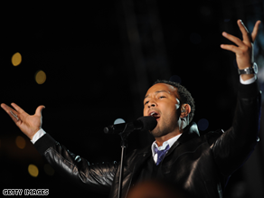 Musician John Legend performs.