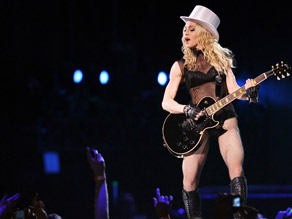 Madonna kicked off her new tour in Wales on Saturday.