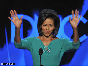 Sen. Obama's wife, Michelle, was the headliner on Monday night.