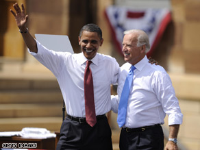 Sen. Obama and Sen. Biden praised McCain's choice of a female for his VP.