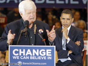 Sen. Kennedy campaigned for Sen. Obama in February and is eager to do so again.