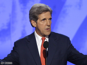 John Kerry speaks at the DNC.