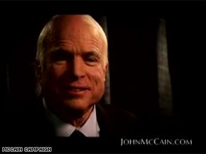 McCain is congratulating Obama in a campaign ad Thursday.