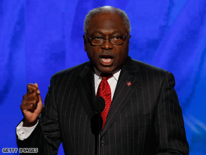 Clyburn said the choice of Palin is risky.