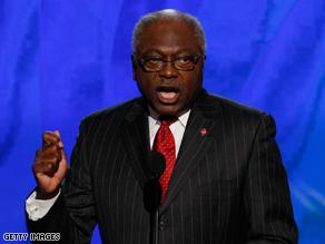 Clyburn said the choice of Palin is risky.