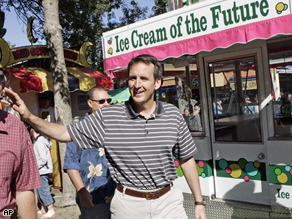 Minnesota Gov. Tim Pawlenty walks through the State Fairgrounds in Falcon Heights, Minn., Friday.