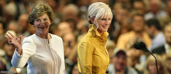 Laura Bush, Cindy McCain call for Gustav donations (CNN)
