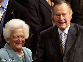 The Bushes received a standing ovation at the RNC tonight.