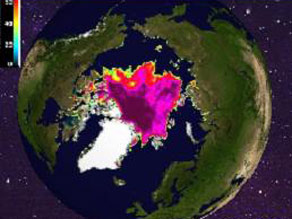 Polar ice cover as of yesterday. Source: Univ. of Illinois Polar Research Group