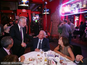 NBC's Tom Brokaw visited the CNN Grill in St. Paul Tuesday night.