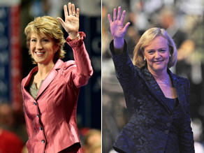 Meg Whitman and Carly Fiorina speaking at the RNC tonight.