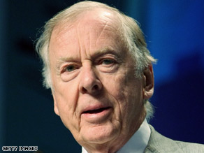 Oilman T. Boone Pickens spoke to CNN.