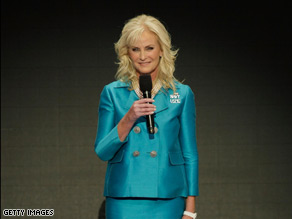 Cindy McCain spoke Thursday night in St. Paul.
