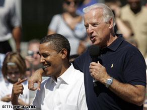 Sen. Biden said Thursday that Republicans are distorting Sen. Obama's record.