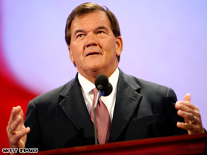 Tom Ridge spoke Thursday night at the Republican National Convention.
