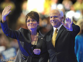 McCain and Palin are stumping on a 'maverick' message.