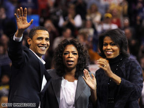 Winfrey campaigned with Sen. Obama and his wife, Michelle, in New Hampshire late last year.