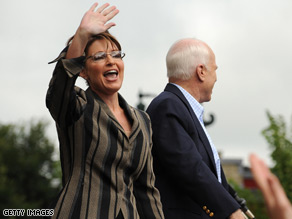 Sarah Palin and John McCain campaigned together Friday.
