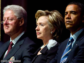 The Clintons and Sen. Obama sat next to one another last week at the funeral of an Ohio Congresswoman.