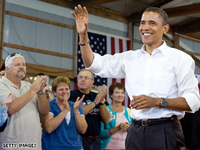 Sen. Obama campaigned in Indiana Saturday.