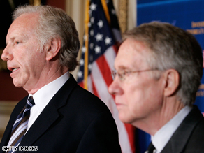 Lieberman met with Senate Majority Leader Harry Reid Thursday.