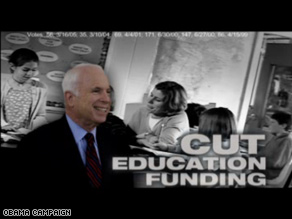 New Obama ad hits McCain on education.