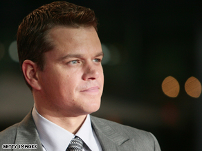 Matt Damon does not approve of Palin.
