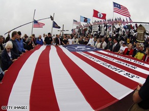 2007 Memorial ceremony for flight 93, which crashed in Shanksville, Pennsylvania on September 11, 2001.