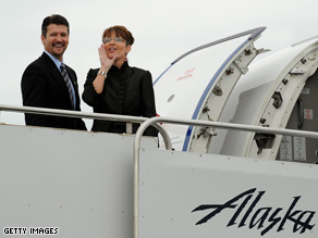 Palin and her husband Todd appeared in Alaska Saturday.