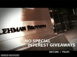 McCain is vowing to reform Wall Street in a new ad.