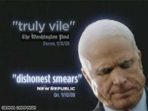 A new Obama ad is attacking the tone of McCain&#039;s campaign.