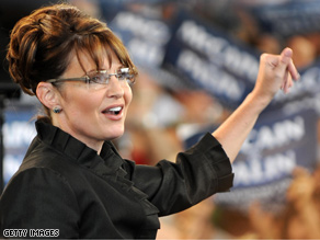 Palin unveiled a new stump speech Monday.