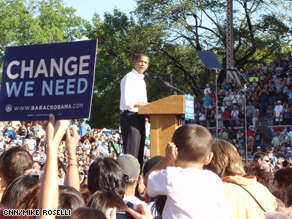 Obama delivered his remarks at the Colorado State Fair of a teleprompter.