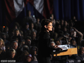 Palin ripped Obama on the economy Tuesday.