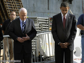 Sens. McCain and Obama put politics aside recently to come together and observe the 7th anniversary of the 9/11 attacks at Ground Zero.