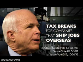 Another new Obama ad hits McCain on jobs.