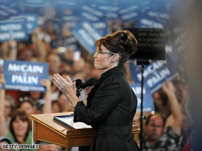 Gov. Palin campaigned in Nevada last weekend.